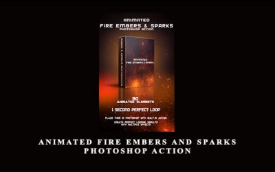Animated Fire Embers and Sparks Photoshop Action