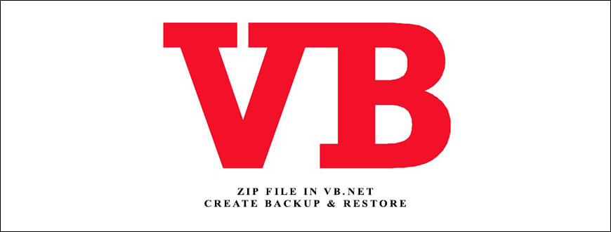 Zip File in VB.Net- Create Backup & Restore Form in VB.Net